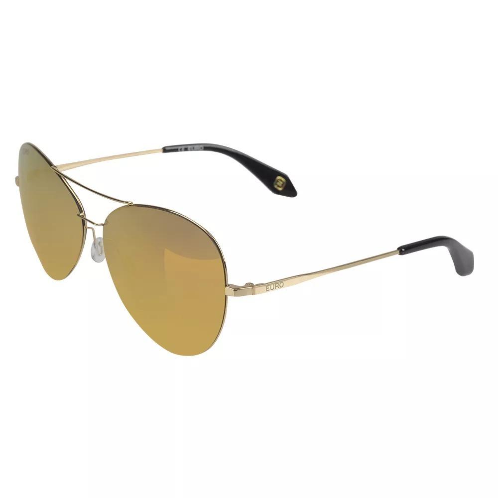 e03cee6ed781a óculos de sol euro feminino aviador espelhado oc186eu 4d. Carregando zoom.