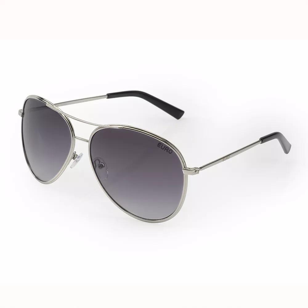 1d62b2a1bc065 Óculos De Sol Euro Feminino Aviador Prata Oc202eu 4d - R  199,90 em ...