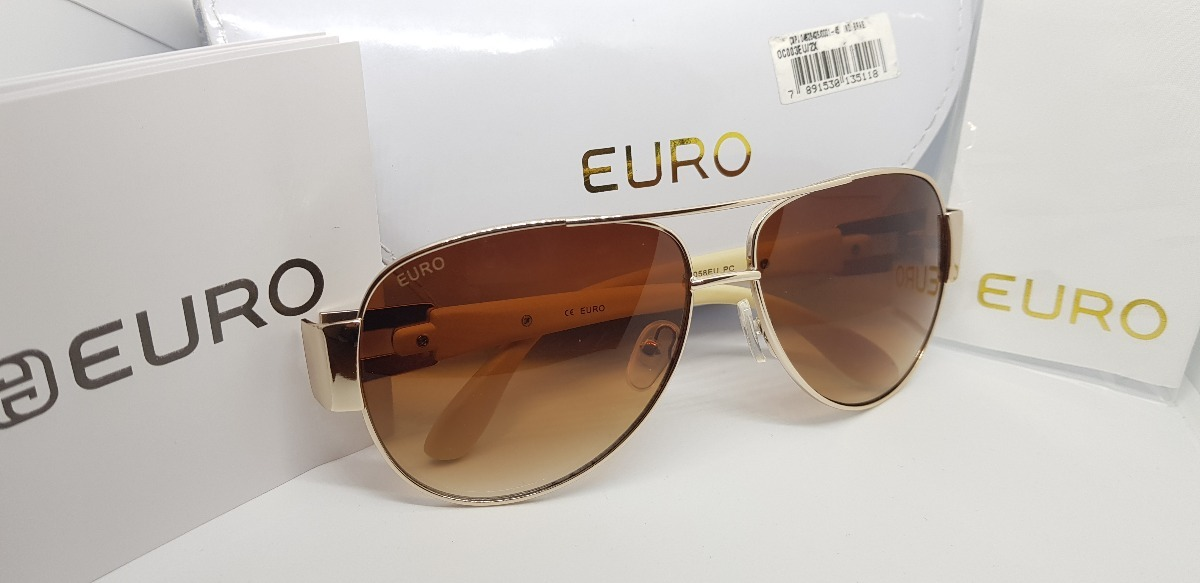 562b974682437 óculos de sol euro oc058eu estilo aviador- degradê- original. Carregando  zoom.
