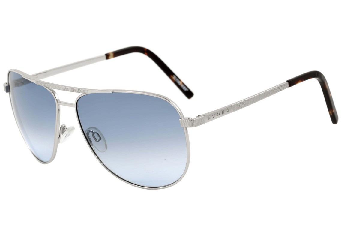 24e5e0fc03a22 Óculos De Sol Evoke Air Flow Large - Silver Turtle  Blue - R  298