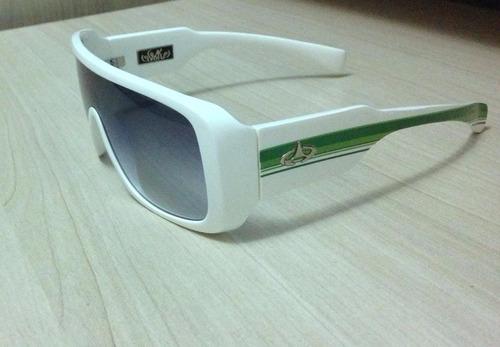 óculos de sol - evoke amplifier white with green lines
