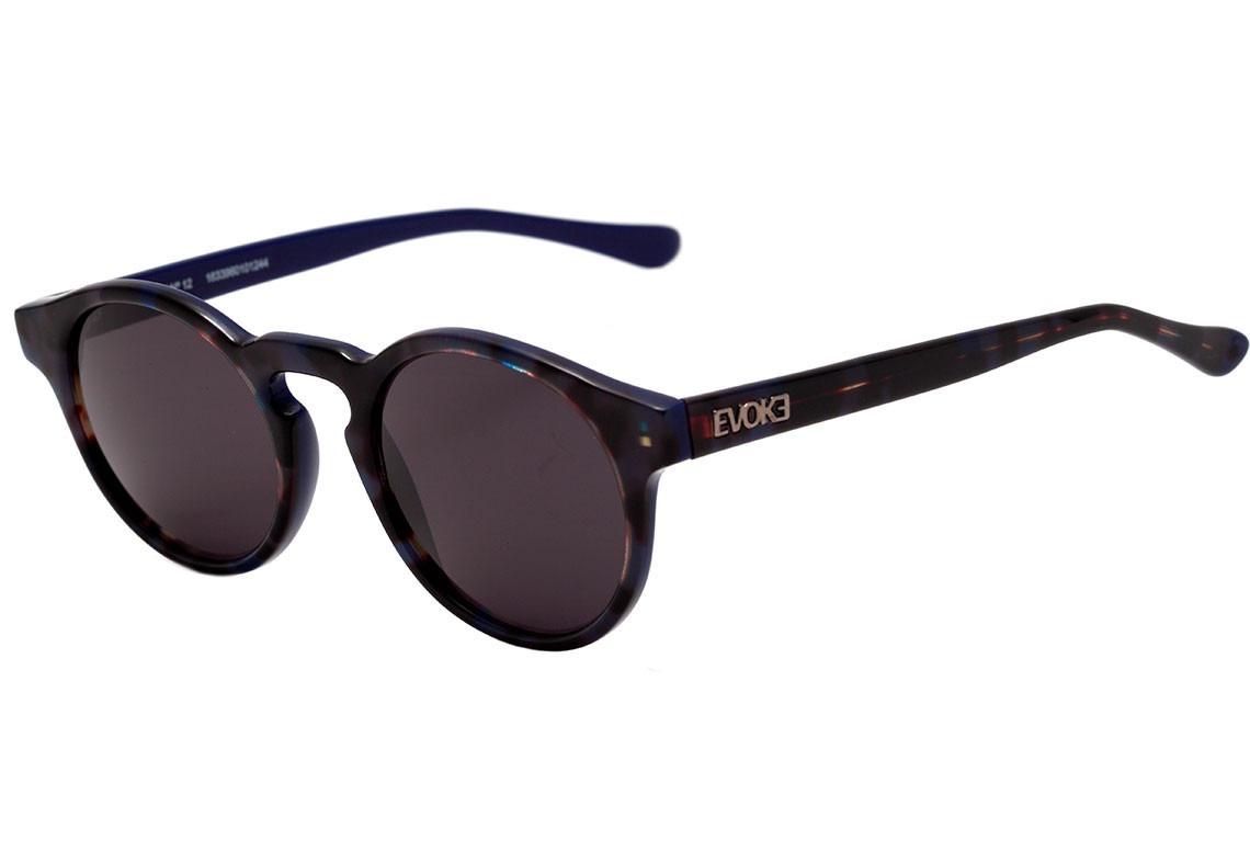 0cd1e94c91ca4 oculos de sol evoke evk 12 g24s turtle blue matte silver. Carregando zoom.