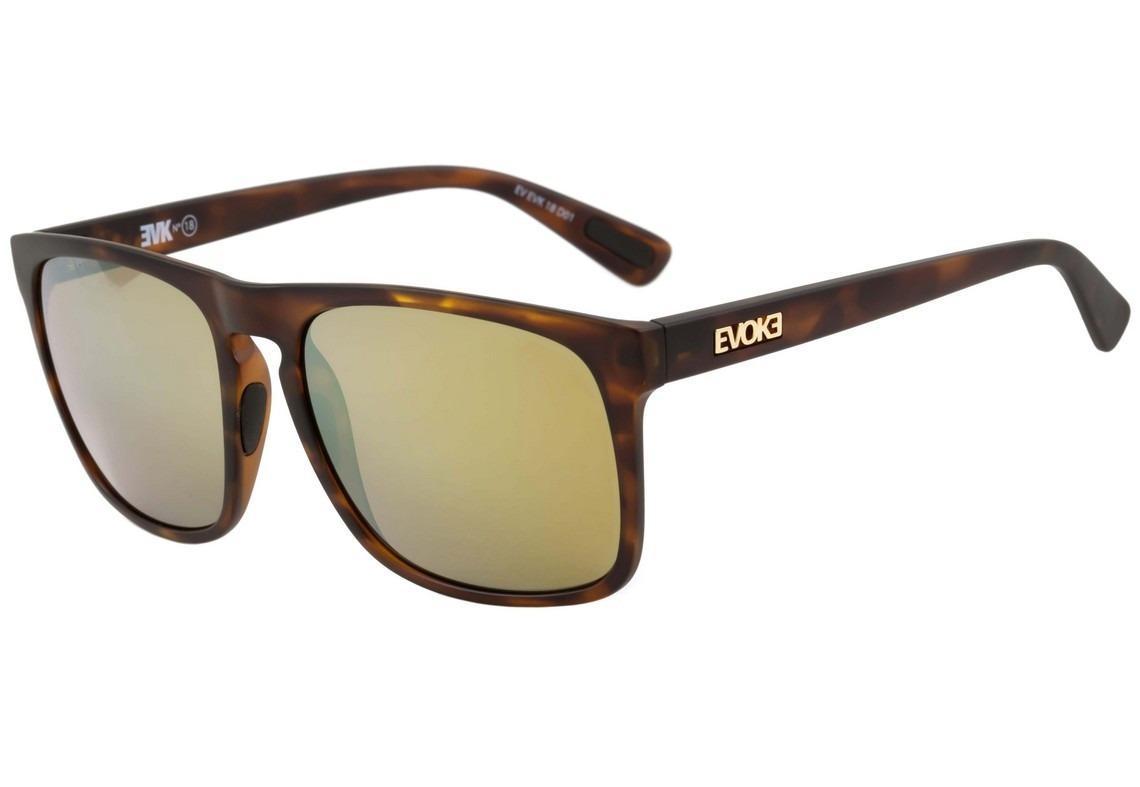 73a6104a699c9 Óculos De Sol Evoke Evk 18 D01 Turtle Matte Gold Espelhado - R  299 ...