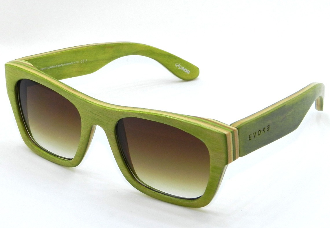 746a995889614 Oculos De Sol Evoke Evoke Army Green  Brown Degradê - R  298