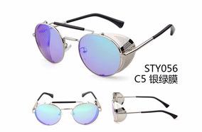 ec288a42d Óculos De Sol Fashion Moda Retro Vintage Steampunk Rock Pop