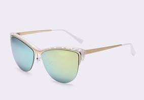 816ba32fc Oculos De Sol Fashionista Dourado Femme Retrô Cat Eye Uv400. 2 cores