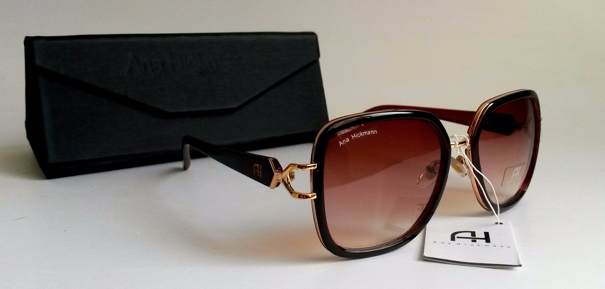 651a56a94ba00 Óculos De Sol Feminino Ana Hickmann - R  129,99 em Mercado Livre