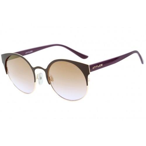 d10ba590045cb Óculos De Sol Feminino Atitude At 3172 01a Gatinho- Original - R ...