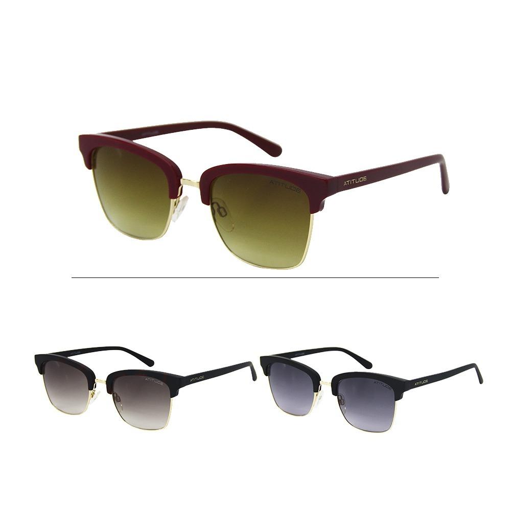 Óculos De Sol Feminino Atitude At3175 - R  179,00 em Mercado Livre 9a320b5b5f