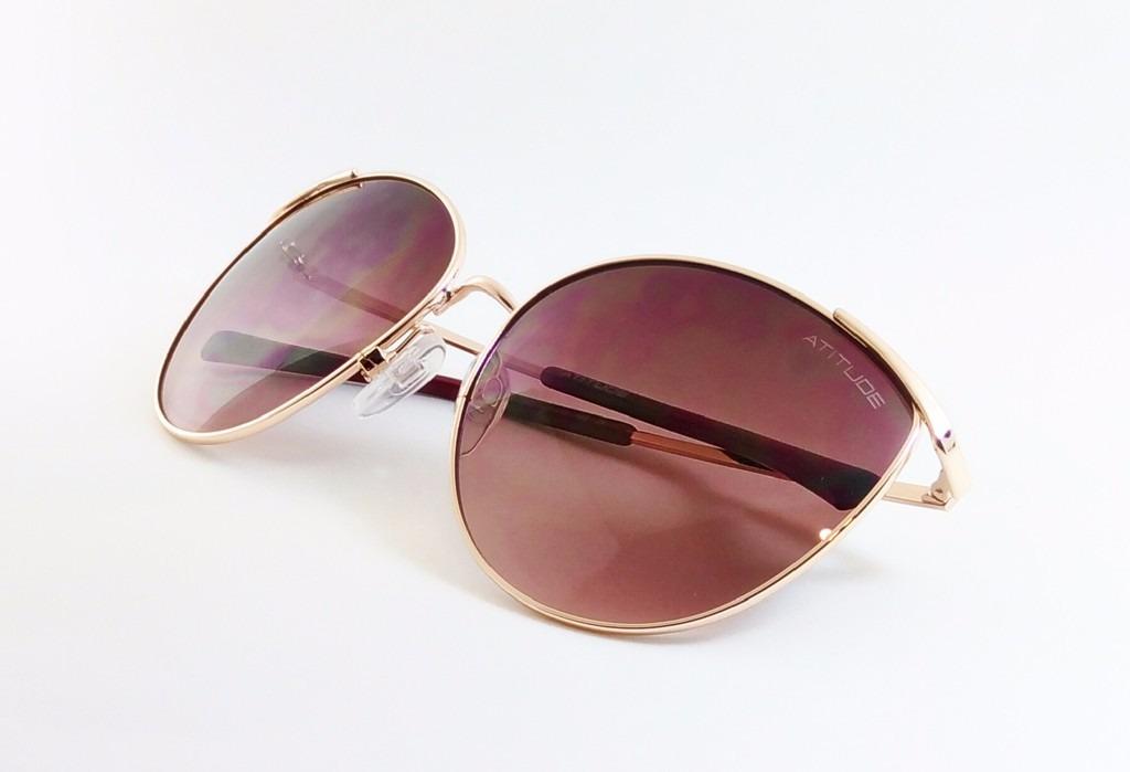 9b66945a0 óculos de sol feminino atitude eyewear at3155 - original. Carregando zoom.