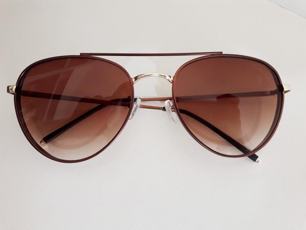 45e297a5d Óculos De Sol Feminino Aviador Cobre Lente Marrom Degradê - R$ 49,90 ...