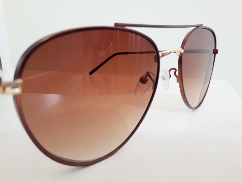 dde16a698 Óculos De Sol Feminino Aviador Cobre Lente Marrom Degradê - R$ 49,90 em  Mercado Livre