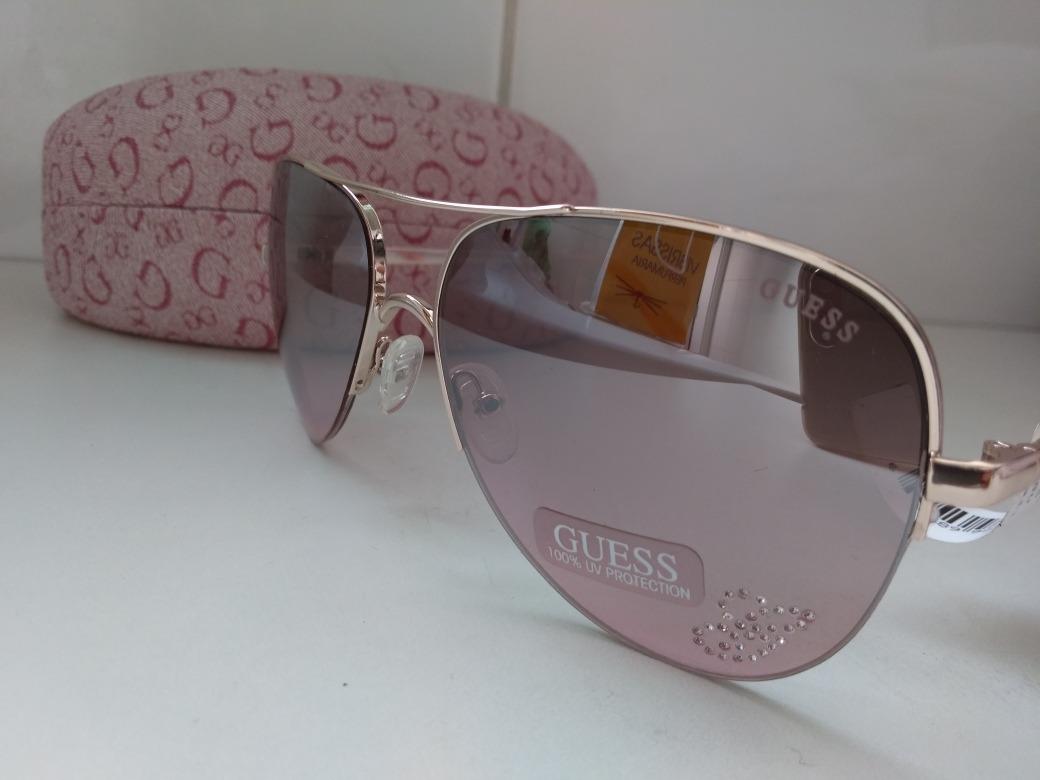 abc3226958f49 Óculos De Sol Feminino Aviador Guess Original - R  349