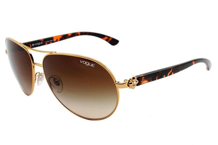 d6c54c3869ca6 Óculos De Sol Feminino Aviador Vogue Original - Vo3968 - R  295,00 ...