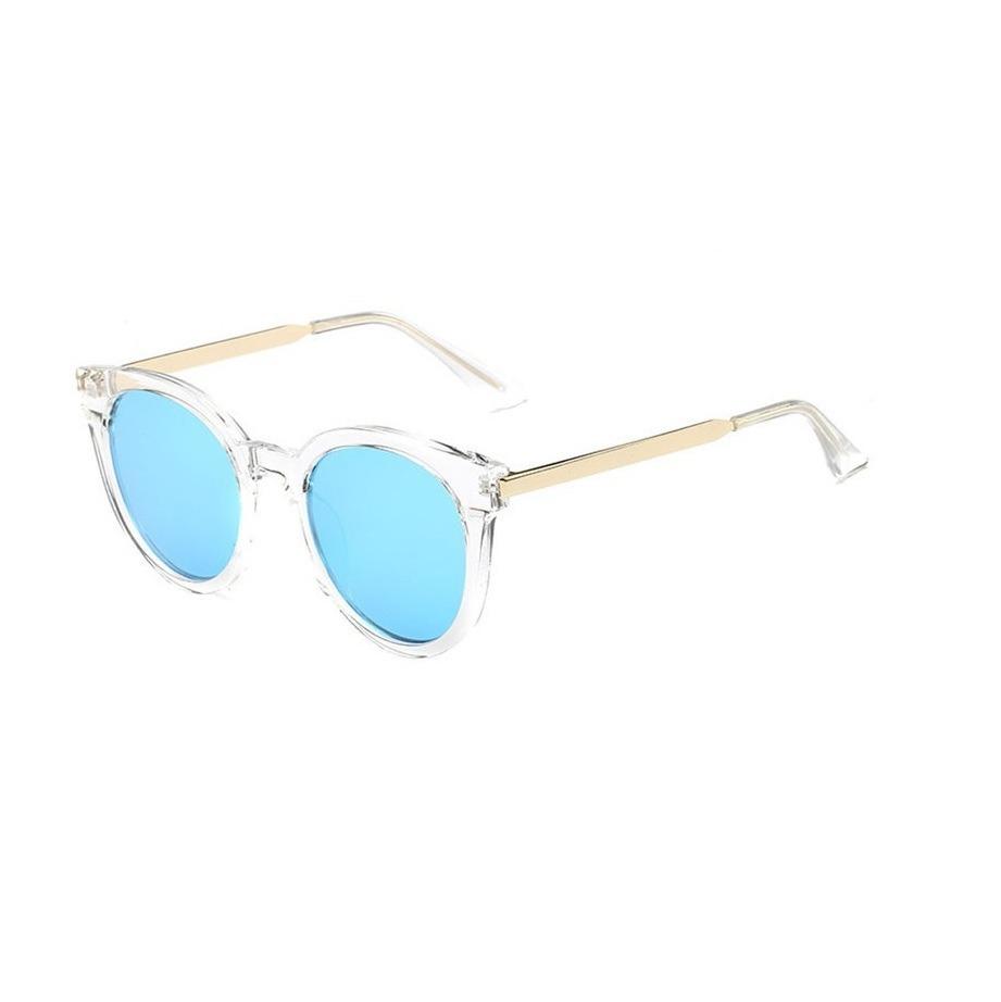 96c87bd9961b0 óculos de sol feminino azul espelhado transparente. Carregando zoom.