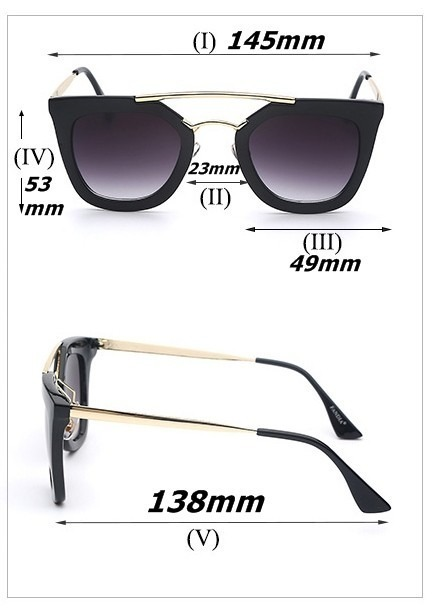 4f0c1e679 Óculos De Sol Feminino Blogueira Moda De Luxo Grande Promoçã - R$ 39 ...