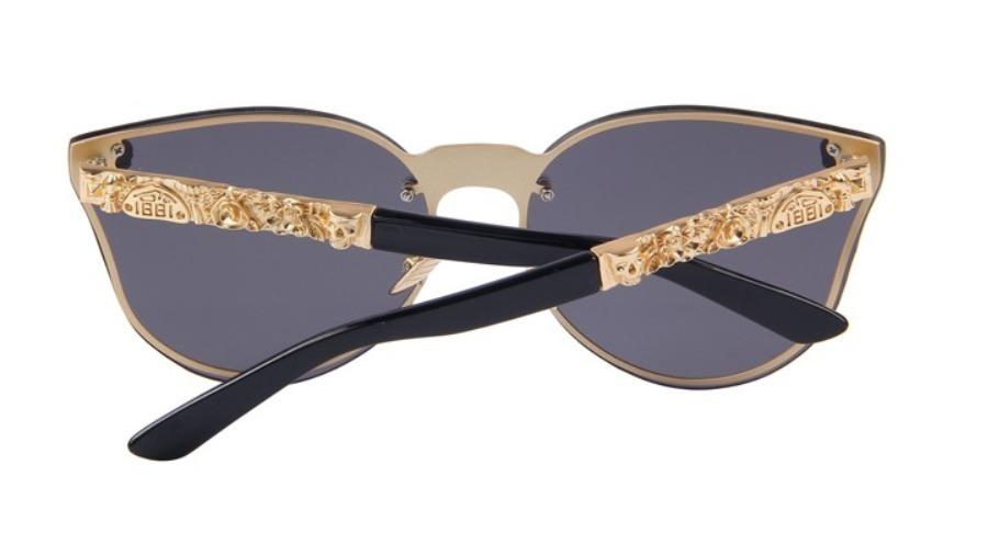 edc2d832b6948 óculos de sol feminino caveira skull cristal gatinho luxo. Carregando zoom.
