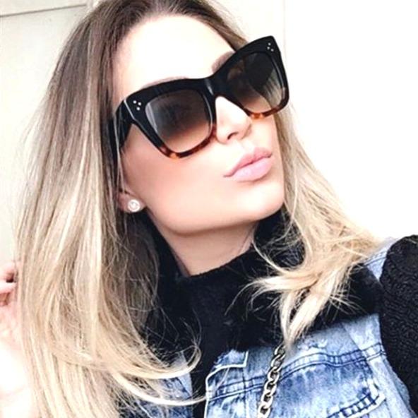 149f80597a3bf Oculos De Sol Feminino Céline Adele Premium - R  122