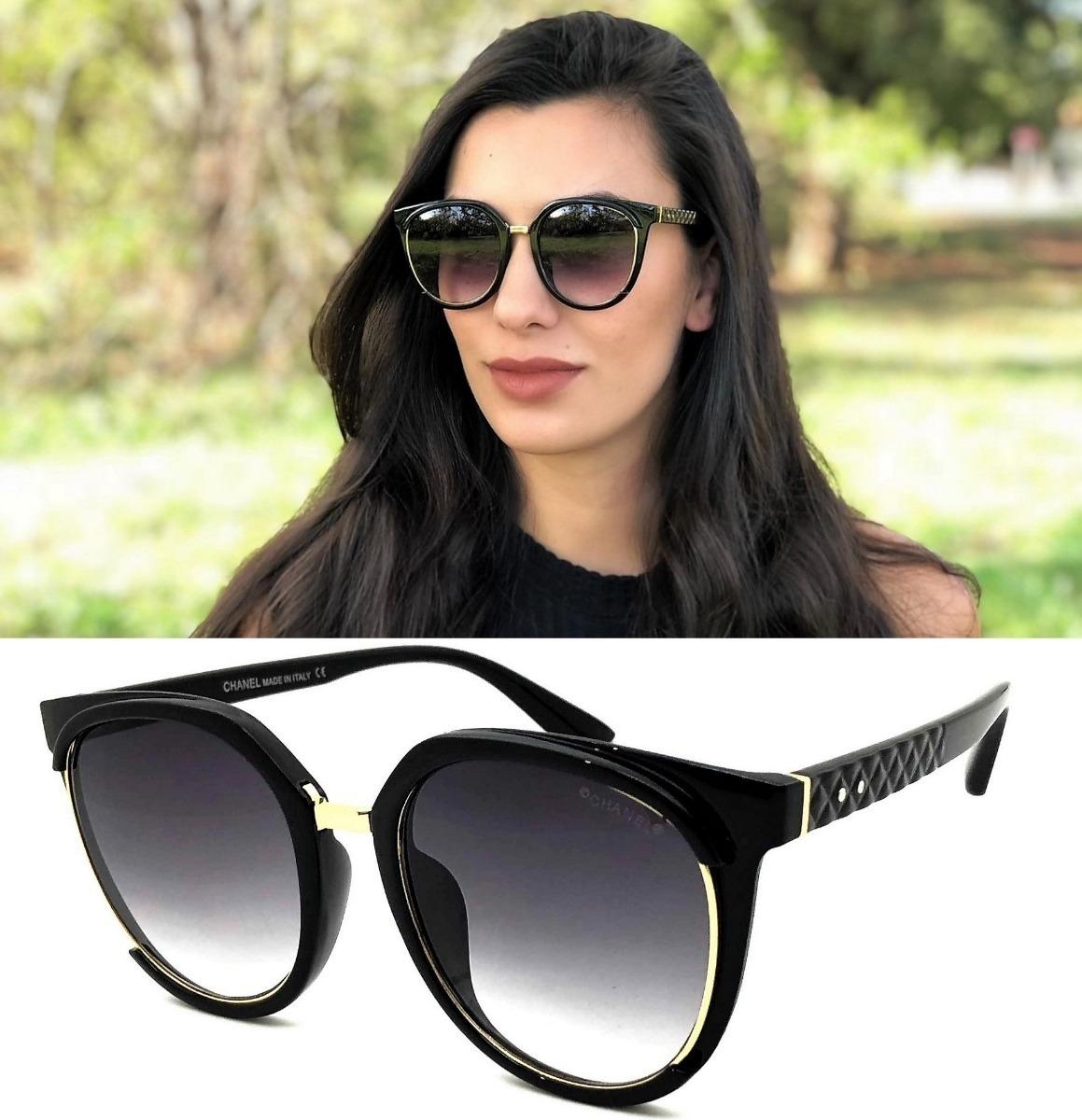 830219b51274b Oculos De Sol Feminino Ch0043 Acetato Uv400 Degradê - R  125,00 em ...