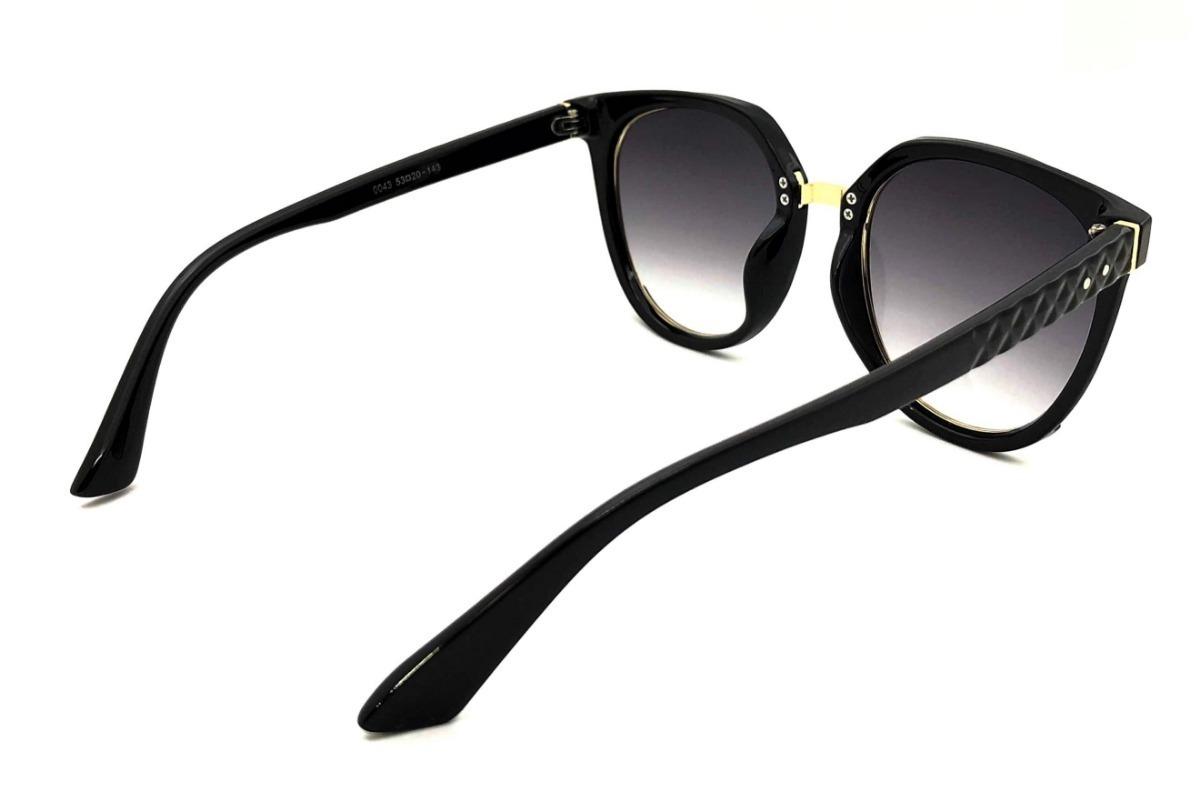 ac50358e3414b Oculos De Sol Feminino Ch0043 Acetato Uv400 Degradê - R  125,00 em Mercado  Livre