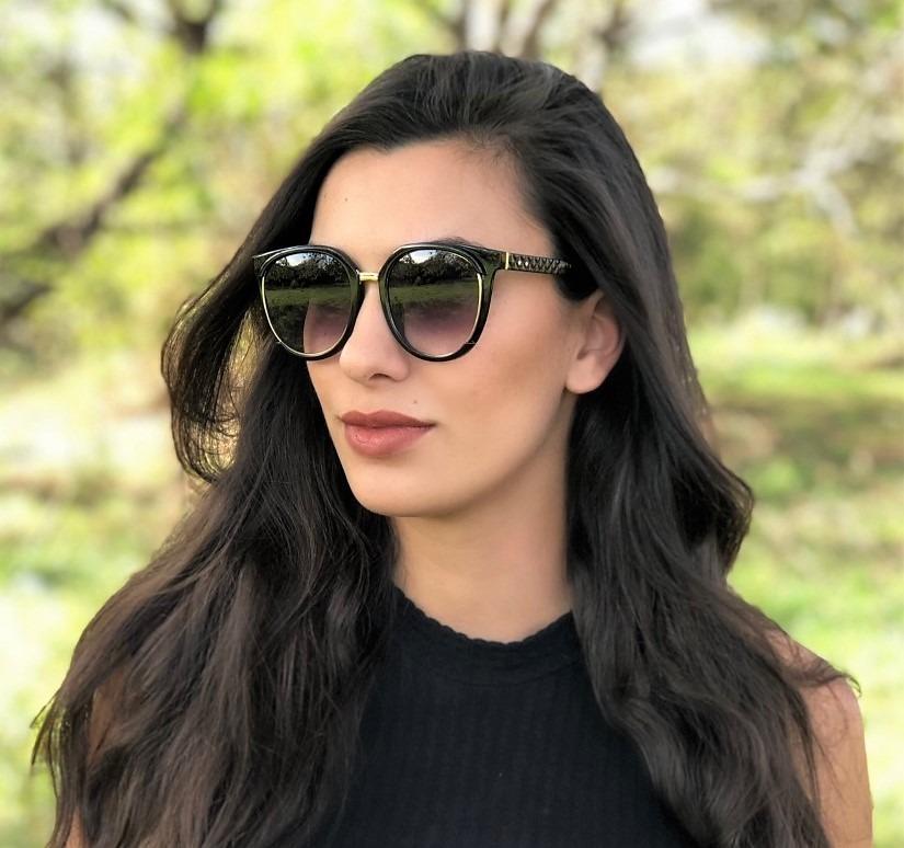 Oculos De Sol Feminino Ch0043 Acetato Uv400 Degradê - R  125,00 em Mercado  Livre 968d09d323