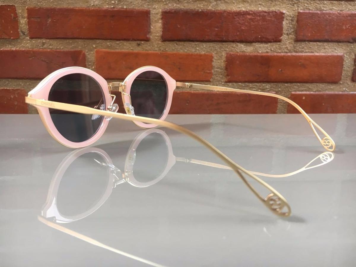 oculos de sol feminino chanel original redondo frete grátis. Carregando  zoom. 97fa30895b