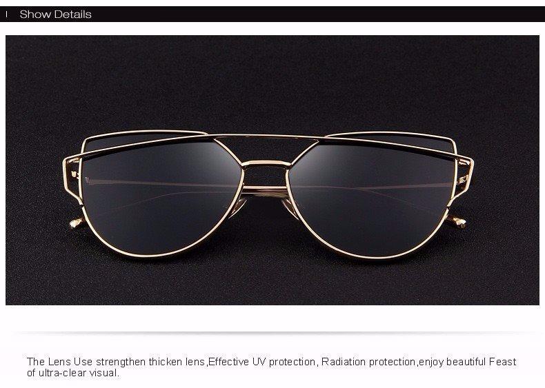 Óculos De Sol Feminino Clássico Com Proteção Uva E Uvb - R  44,00 em ... e0cd7c3207