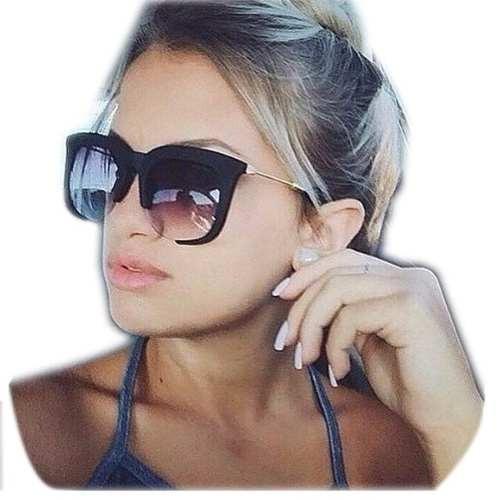 Óculos De Sol Feminino Clássico Rasoir Aberto Cores Grande 810bbe1e5d