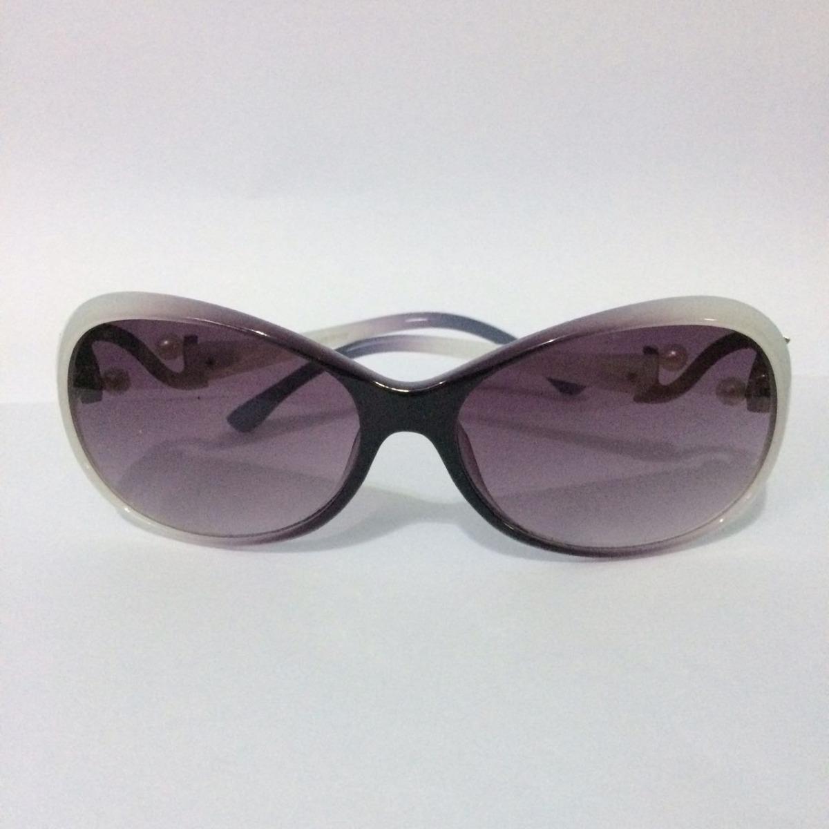 d53f24f277500 óculos de sol feminino com armação branca e roxa proteção uv. Carregando  zoom.