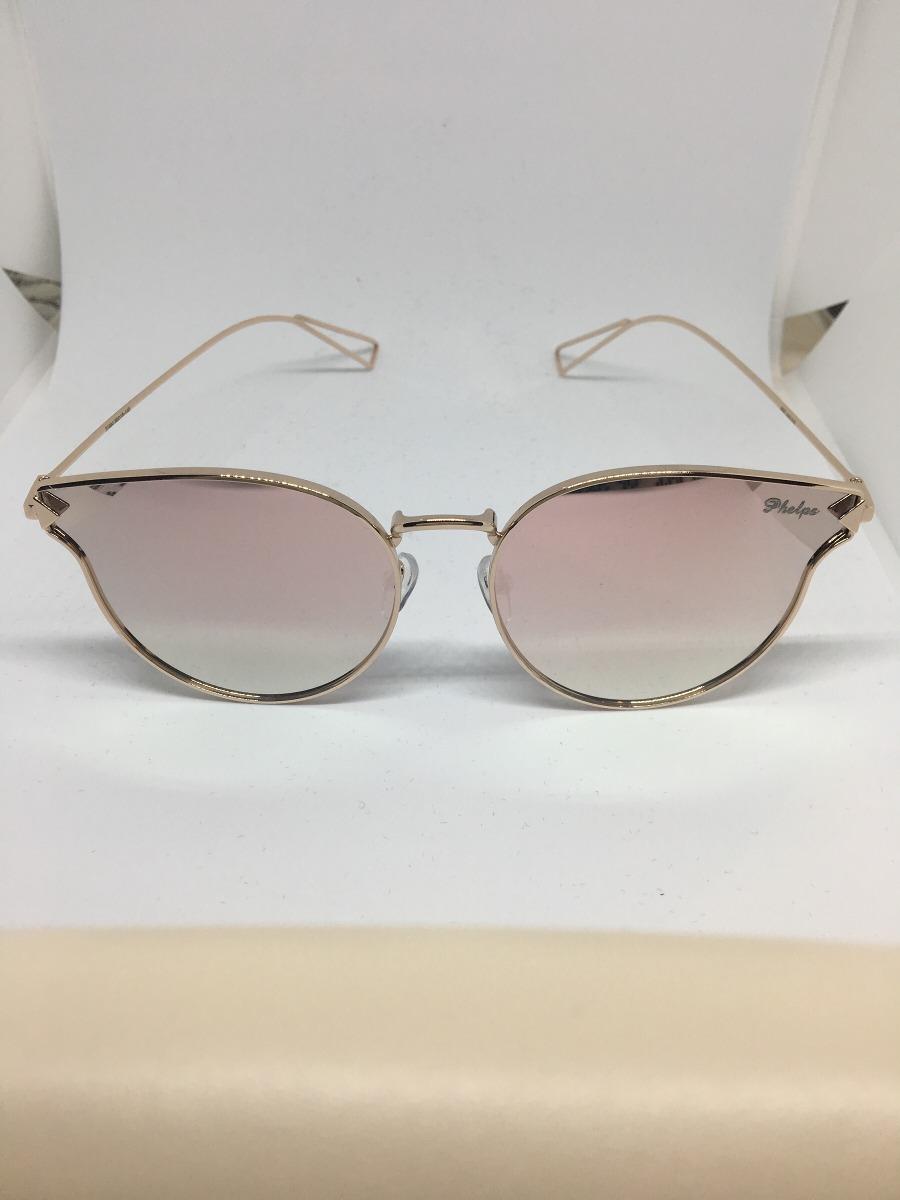 óculos de sol feminino com lente espelhada rosa (phelps). Carregando zoom. dc13ef5785