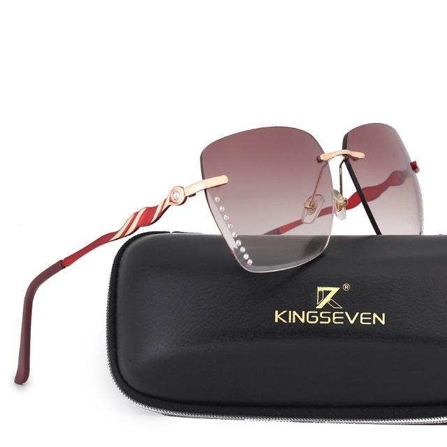 96293a2fd Óculos De Sol Feminino Degradê Kingseven Original Luxo Lindo - R ...