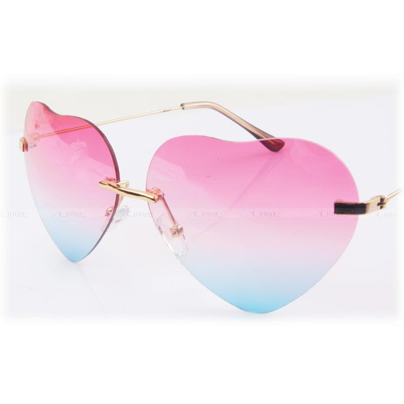 Óculos De Sol Feminino Degrade Lolita Coração - R  45,00 em Mercado ... 2870fbfc23