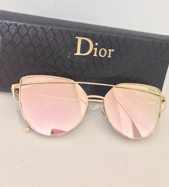 daff20a105013 Óculos De Sol Feminino Dior Espelhado Com Case Personalizada - R  75 ...