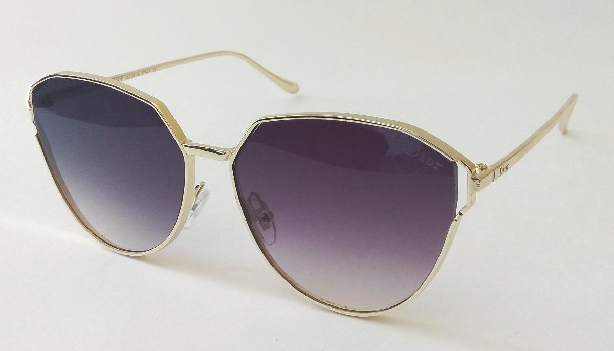 530e38d25f322 Óculos De Sol Feminino Dior Redondo Dourado Importado - R  98,90 em ...