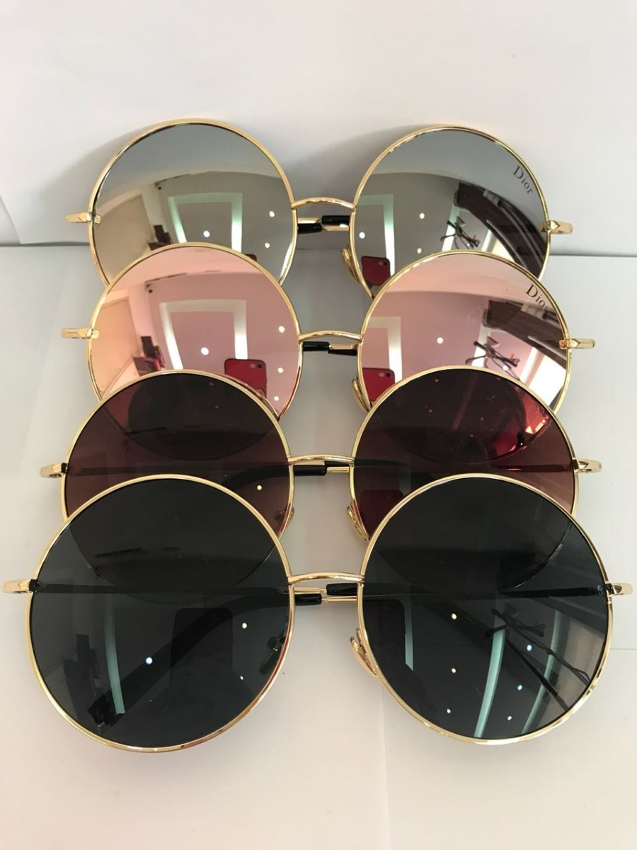 oculos de sol feminino dior redondo espelhado. Carregando zoom. 563756cf9e