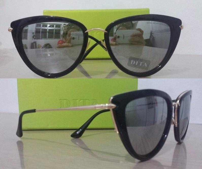 Óculos De Sol Feminino Dita Heartbreaker- Pronta Entrega - R  99,90 ... 142ccd265a