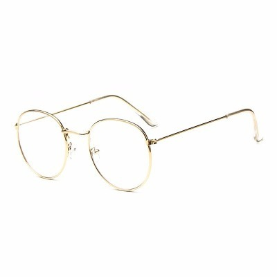 0558c6ee3b0b6 Óculos De Sol Feminino Dourado Com Lente Transparente Mulher - R  83 ...