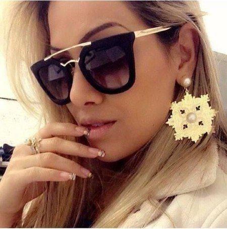 5a5c10783fbc9 Óculos De Sol Feminino Elegante Moderno Geometric Barato - R  24 ...