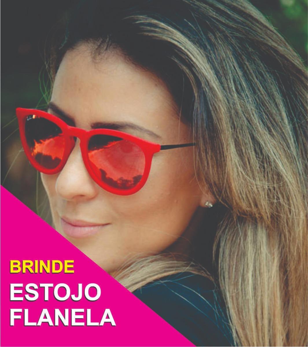 fbb9ee72e70a3 óculos de sol feminino erika erica veludo espelhado redondo. Carregando zoom .