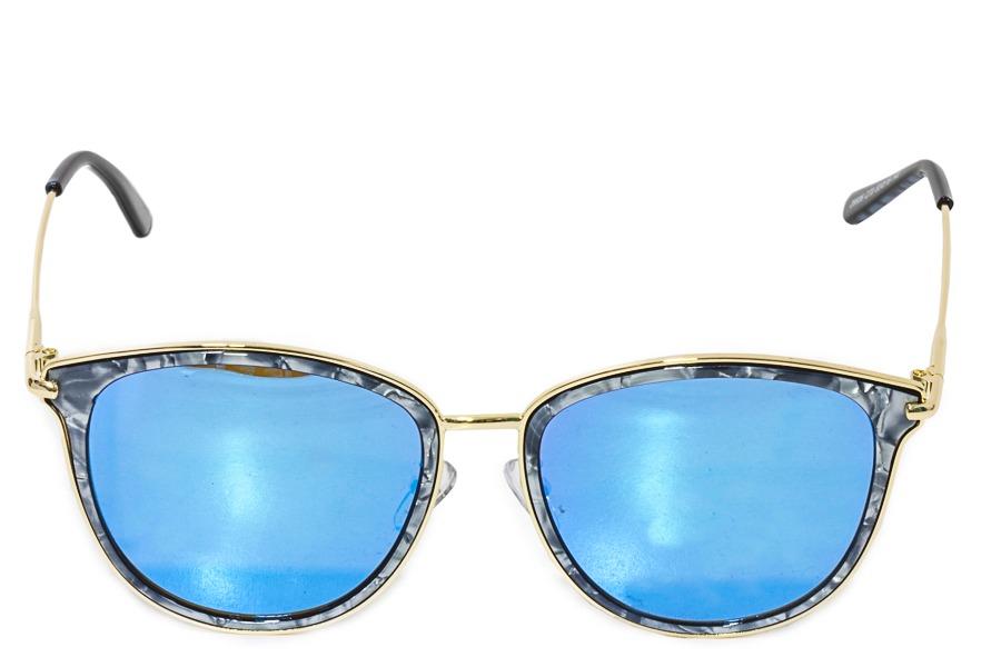 óculos de sol feminino espelhado azul lente marmorizado novo. Carregando  zoom. 1864858b42