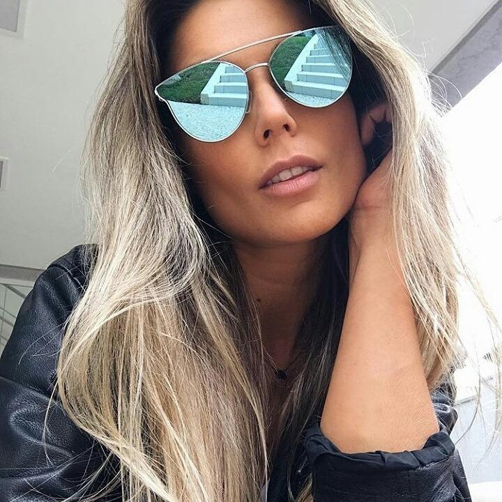 2927ad5705f6a Óculos De Sol Feminino Espelhado Azul Niterói 2.0 - R  85