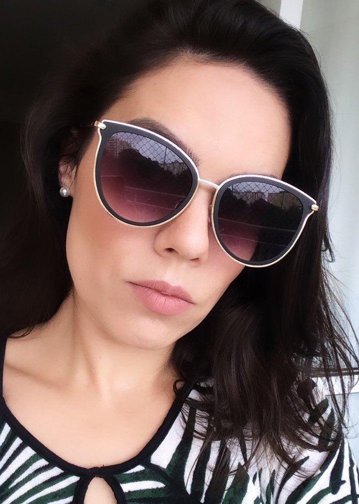 7e8db608ea6dd óculos de sol feminino espelhado gatinho - frete grátis. Carregando zoom.