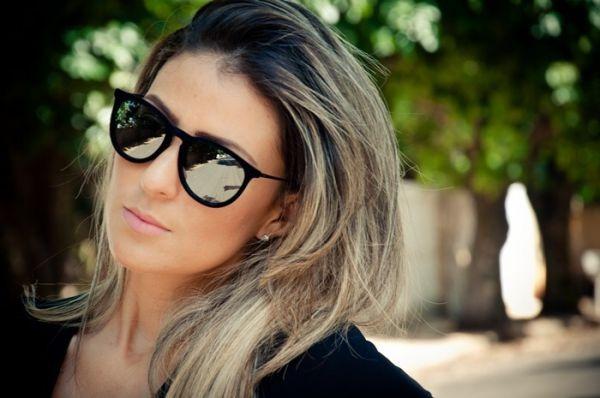2f623d9f7c0f2 Óculos De Sol Feminino Espelhado Gatinho Proteção Uv400+brin - R  71 ...
