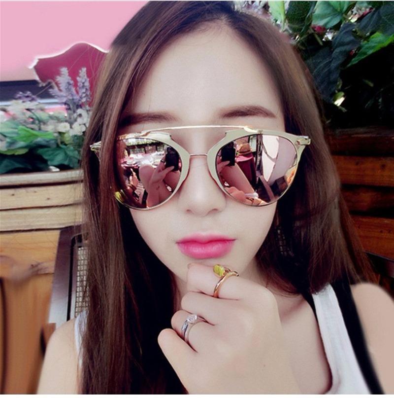 ddcdea015475b óculos de sol feminino espelhado gatinho uv400 frete grátis. Carregando zoom .