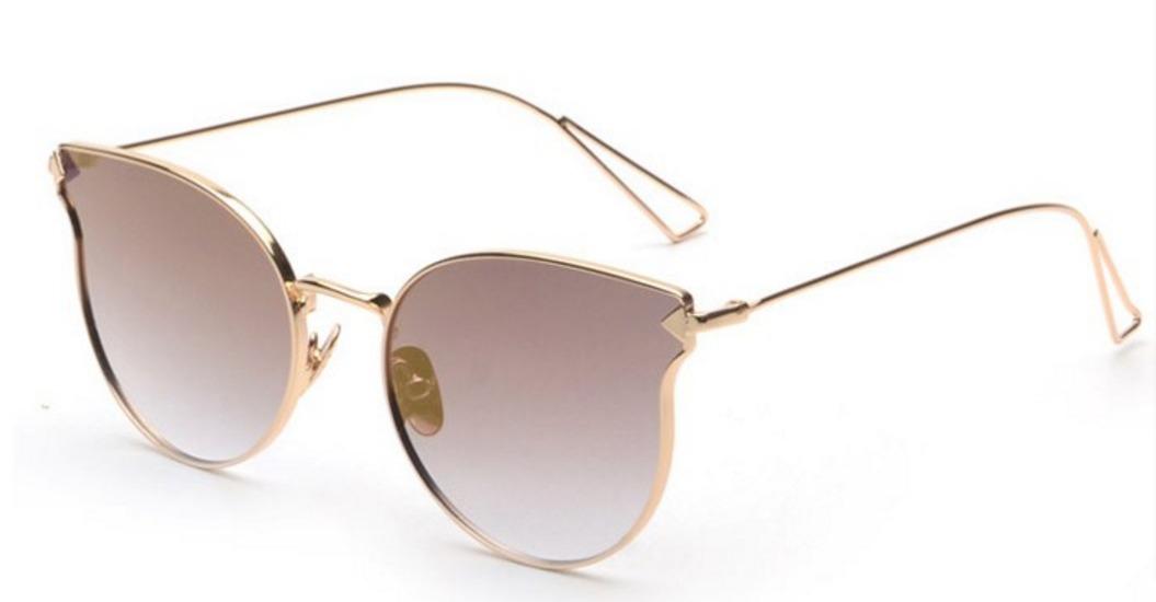 83743d3cf óculos de sol feminino espelhado gato gatinho oval redondo. Carregando zoom.
