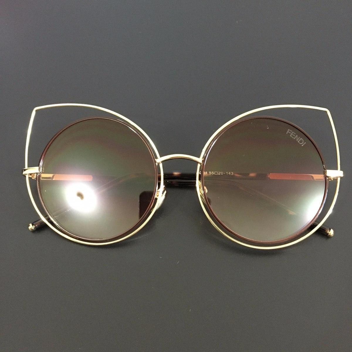 09b4c8b4b óculos de sol feminino espelhado gato gatinho redondo. Carregando zoom.