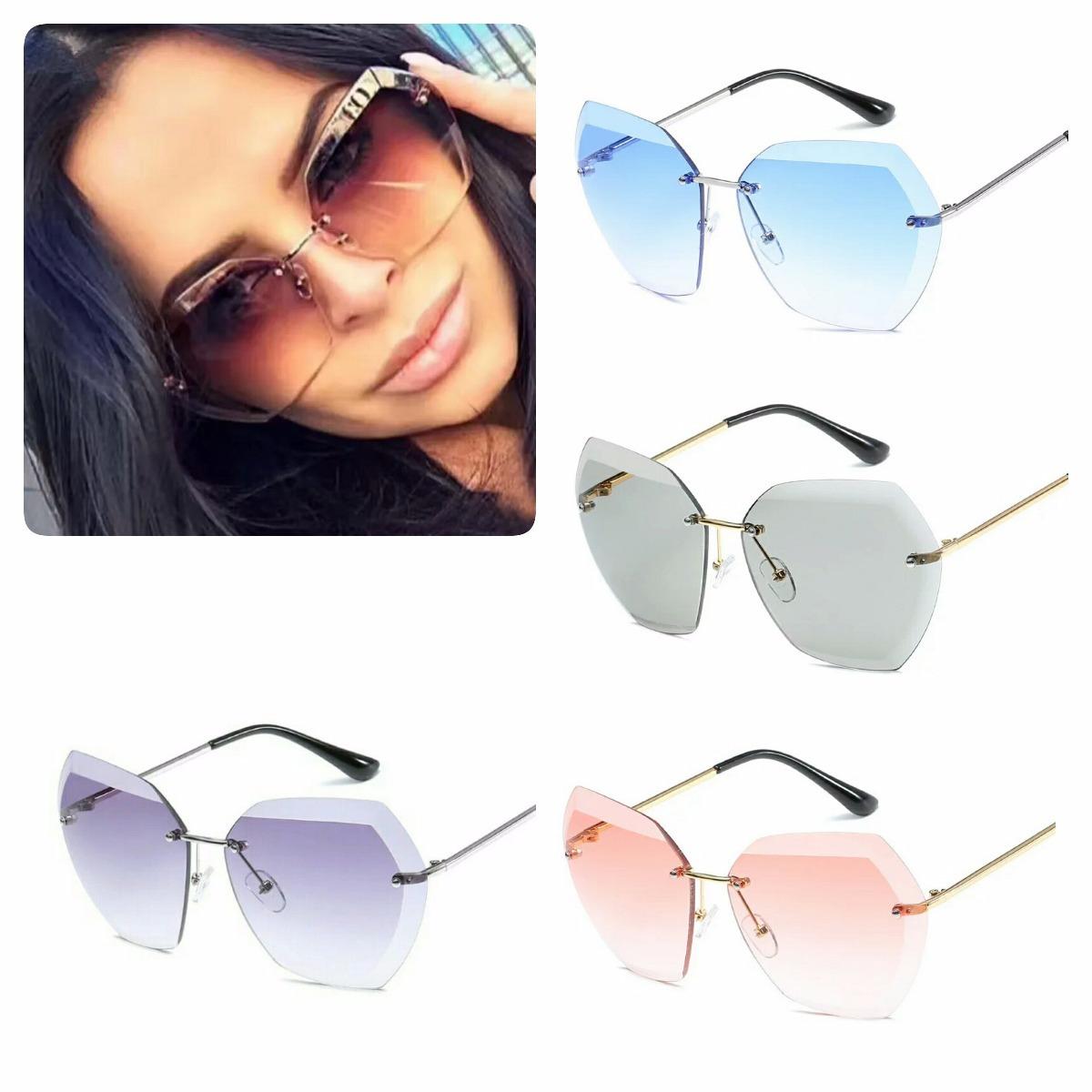 óculos de sol feminino espelhado lente degradê grande top. Carregando zoom. 02b91543a7