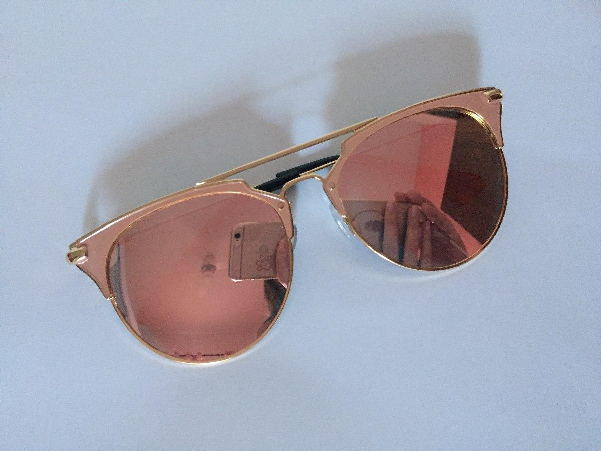 Óculos De Sol Feminino Espelhado Moda Vintage Retrô - R  40,00 em ... 43617fa3e4