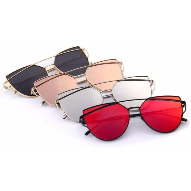c7af01442644a Óculos De Sol Feminino Espelhado Olho De Gato Gatinho Barato - R  35 ...