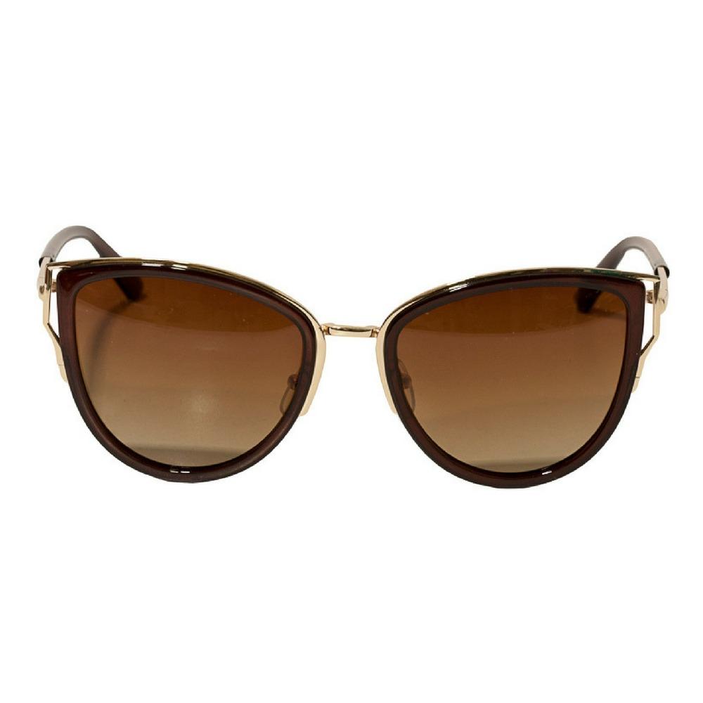 a912ddd2f Óculos De Sol Feminino Estilo Gatinho Marrom - R$ 95,00 em Mercado Livre